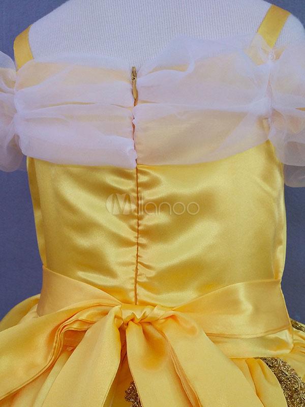Costume cosplay per bambini set giallo abito cartone