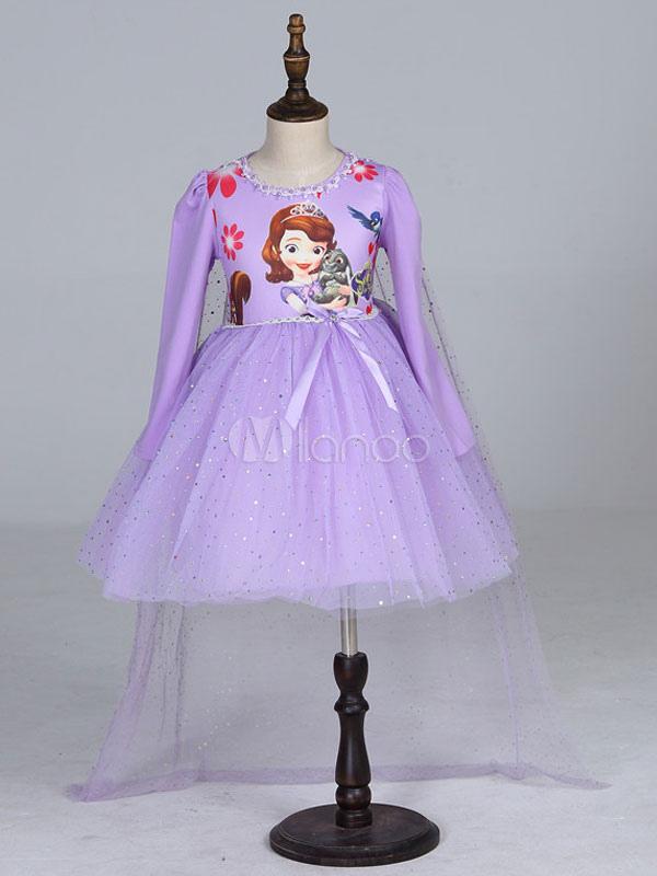 Disfraz de Niños tema de cartoon de color lila estilo clásico con ...