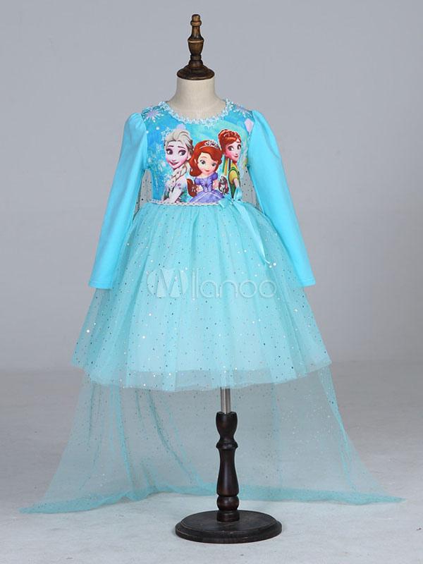 Personaggio dei cartoni animati della ragazza che porta il vestito