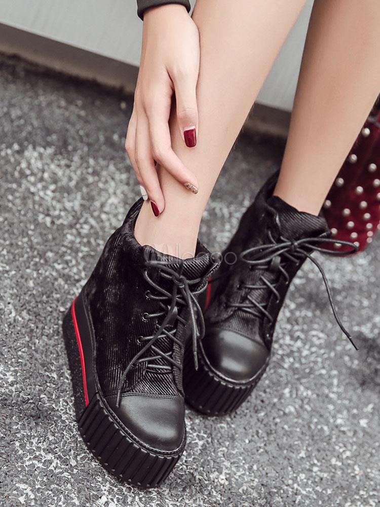 Zapatos de puntera redonda con cinta de PU con dibujo de estrellas estilo informalPlanos para pasar por la noche Otoño/Invierno 3XOMmGzdW