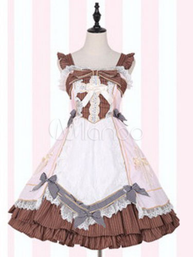 Sweet Lolita JSK Jumper Skirt Medical Kit Replica Sleeveless Ruffles Bows Lolita Dresses