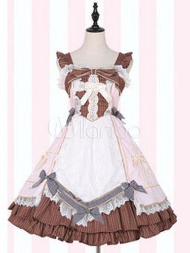 Buy Sweet Lolita JSK Jumper Skirt Medical Kit Replica Sleeveless Ruffles Bows Lolita Dresses for $44.99 in Milanoo store