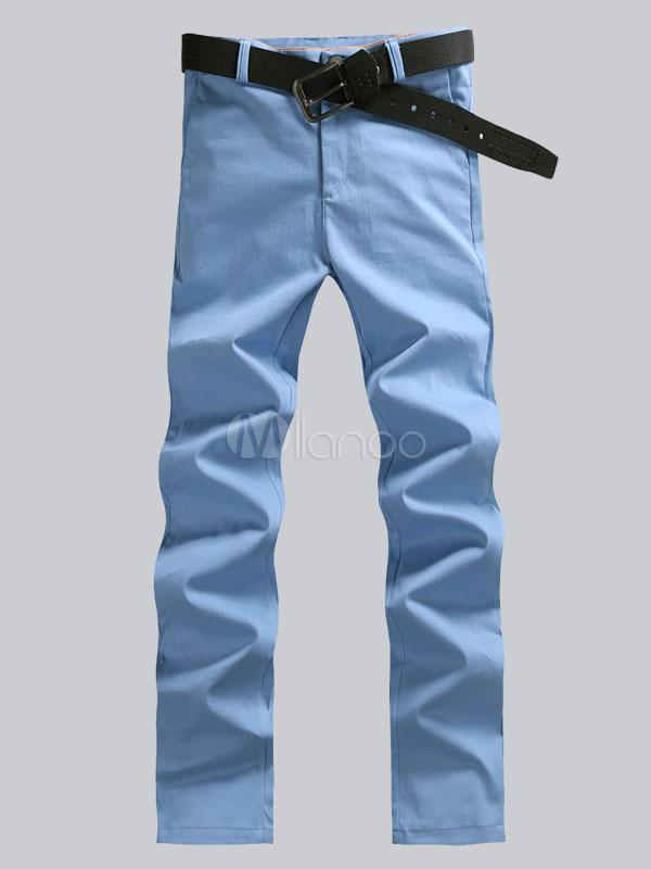 Black Long Pants Men's Straight Casual Slacks Pants