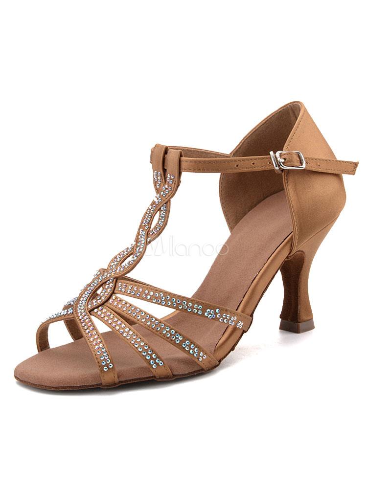Americano Latino Sottile Aperto Donna Tacco Ballo Sandali Da Scarpe x7ntwqB1zB