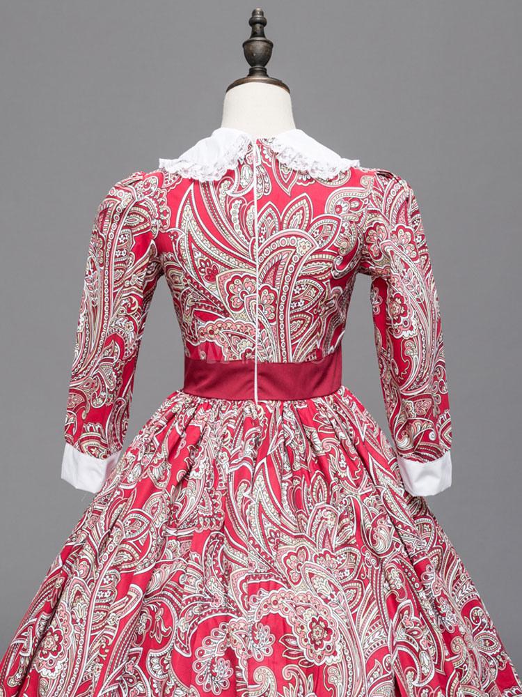 Vestido de retro para adultos Estilo europeo Real para fiesta rojo ...