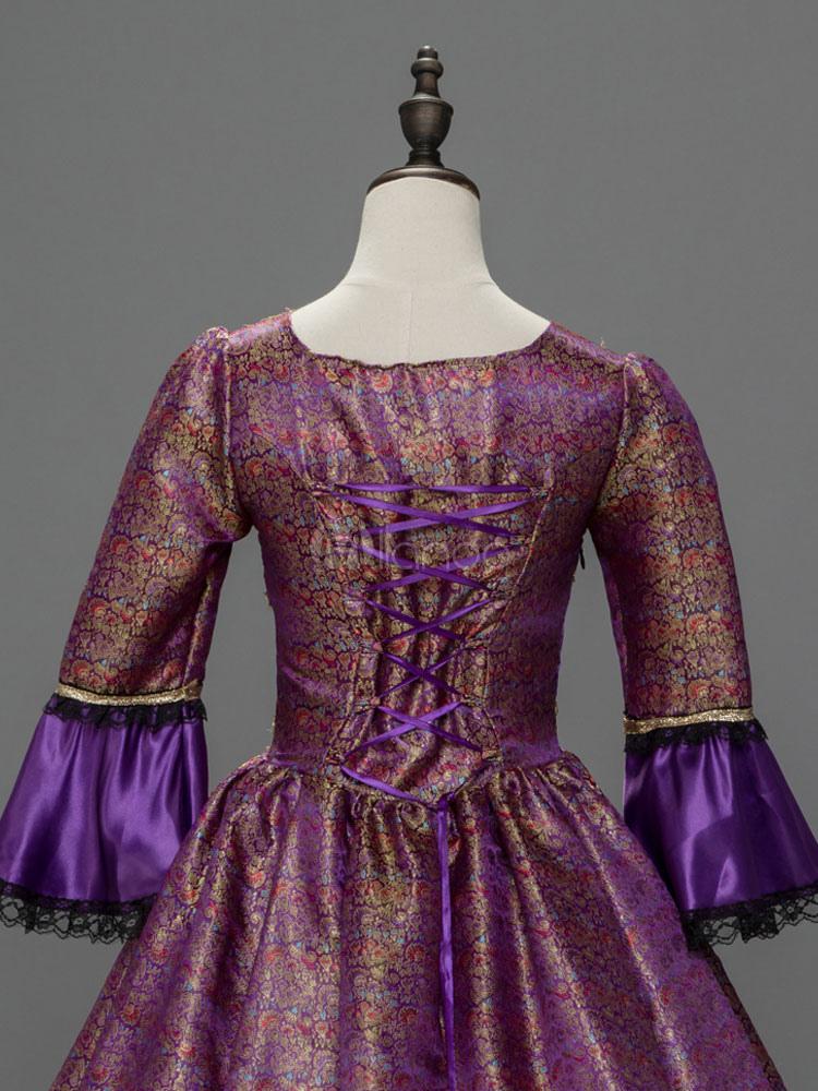 Vestido de retro para adultos Era victoriana Real para fiesta morado ...