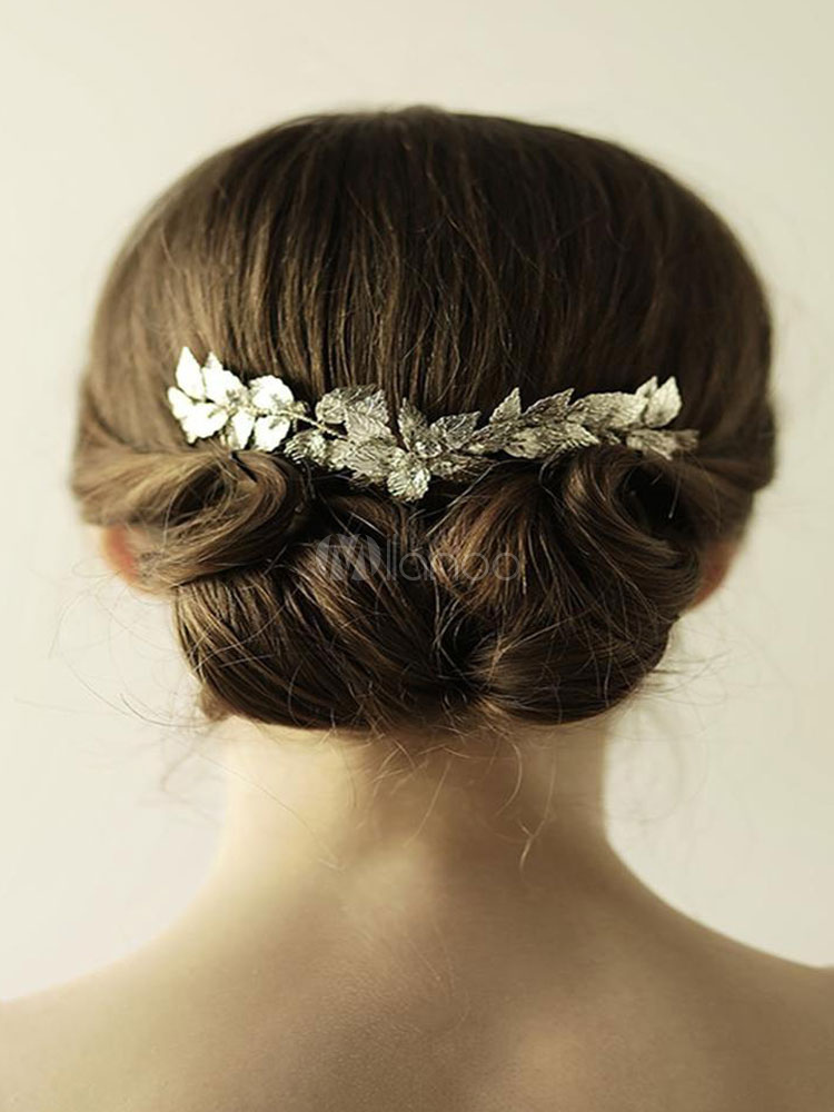Buy Silver Wedding Comb Headpieces Alloy Bridal Hair Accessories for $18.99 in Milanoo store