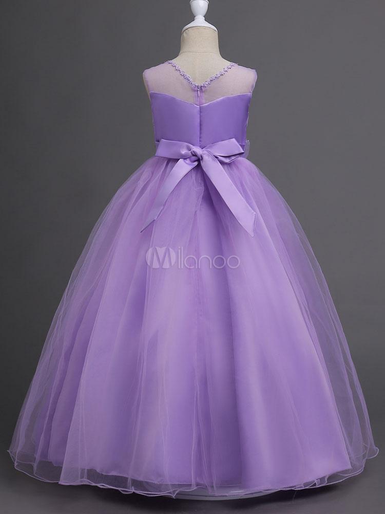 Vestidos de niña de las flores vestido de princesa del desfile ...
