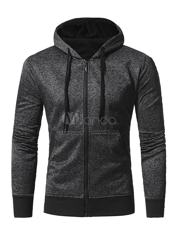 Light Tan Cotton Sweatshirt Men S Hooded Long Sleeve