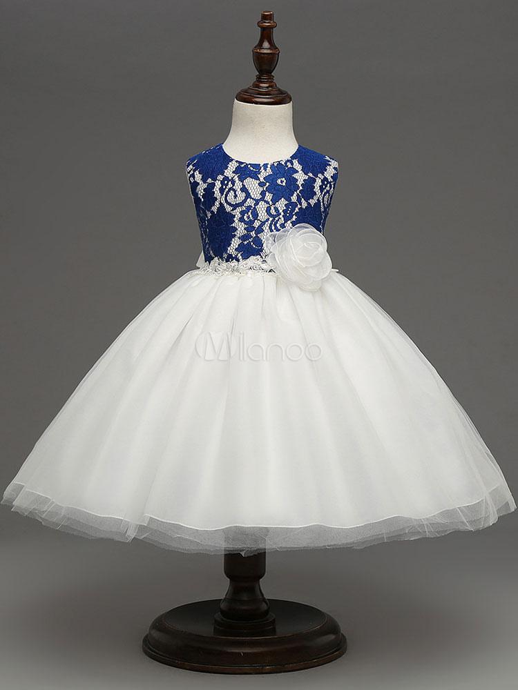 Buy Flower Girl Dresses Toddler's Tutu Dress Lace Tulle Knee Length Kids Formal Party Dresses for $23.74 in Milanoo store