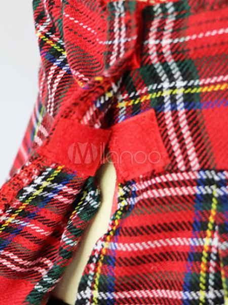 c62d6b189eebd Women's Sexy Lingerie School Girl Pleated Tartan Check Crop Top With Mini  ...