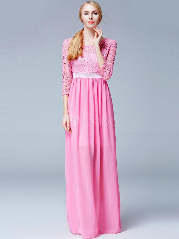 Moda de vestidos largos en chifon