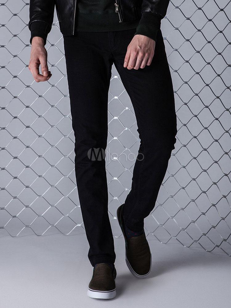 Jean For Men Black Casual Pant Straight Leg Jean