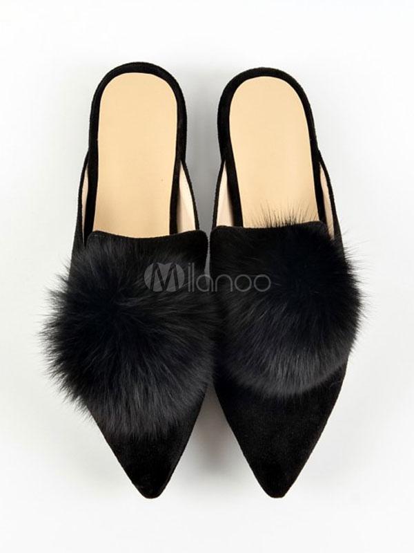 Atrovirens Women's Mules Pointed Toe