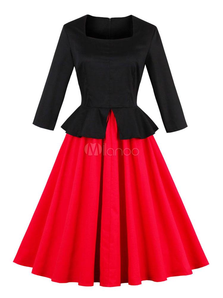 Kleid viereckiger ausschnitt