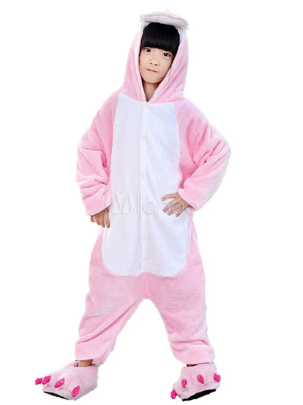 Кигуруми Пижама Динозавр Дети Хэллоуин Костюм Розовый фланель-комбинезон с  обувью Хэллоуин-No. 8fd929a429aef