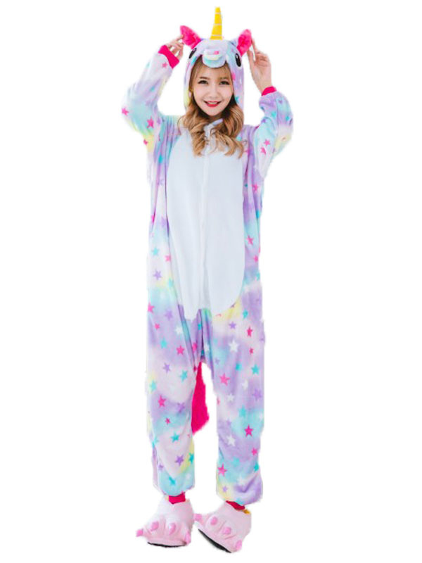 offrire sconti Liquidazione del 60% più popolare Dreaming Star Unicorno Kigurumi Pigiama Tutina Flanella Con Calzature  Costume di Carnevale