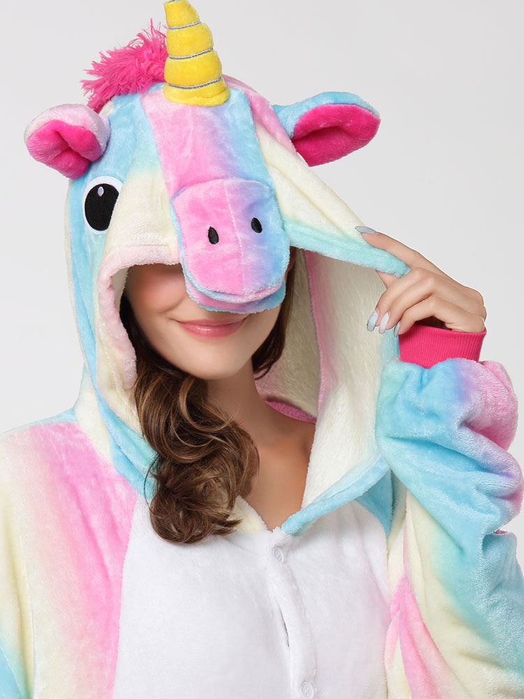 einhorn kost m regenbogen tierkost me pyjamas einhorn onesie f r erwachsene karneval kost m. Black Bedroom Furniture Sets. Home Design Ideas