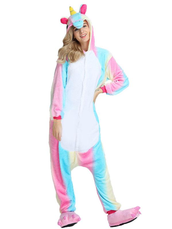 einhorn kostum regenbogen tierkostume pyjamas einhorn onesie fur erwachsene karneval kostum no