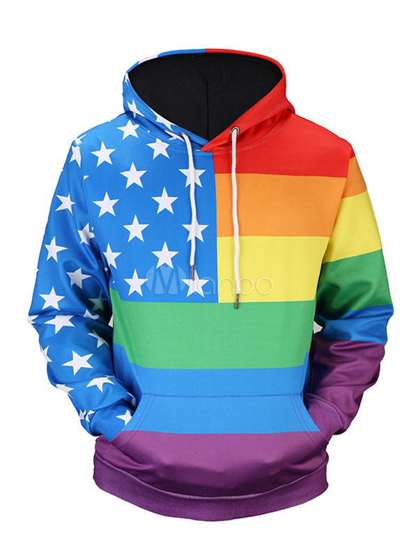 Buy Men's Pullover Sweatshirt Men's Hooded Long Sleeve Printed Regular Fit Hoodie for $18.99 in Milanoo store
