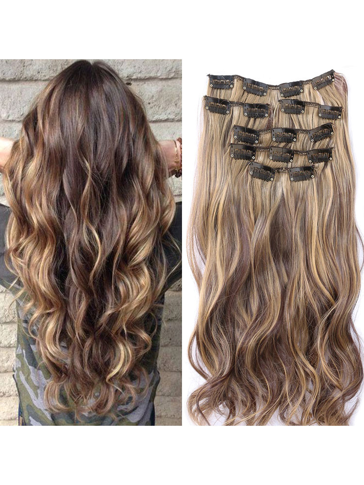 Synthetic Hair Extensions Tousled Full Volume Curls Long Hair Piece