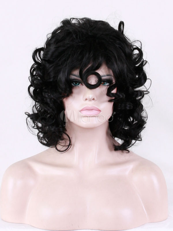 Buy Black Afro Wigs Curly Tousled Synthetic Short Women's Wigs for $12.59 in Milanoo store