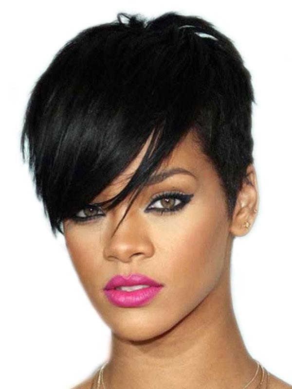 Black Women Wig Afro Layered Boycuts Women Short Synthetic Wig
