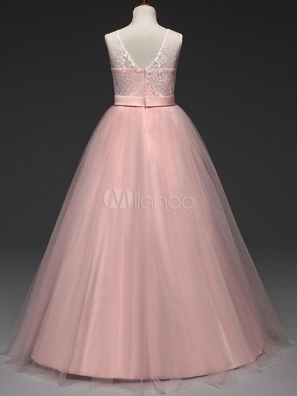 Vestido de niña para boda 2018 Vestido de florista barato con escote ...
