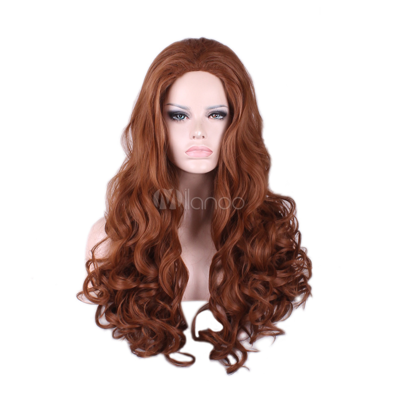 Buy Deep Brown Wigs Women's Long Tousled Full Volume Curls Synthetic Wigs for $15.39 in Milanoo store