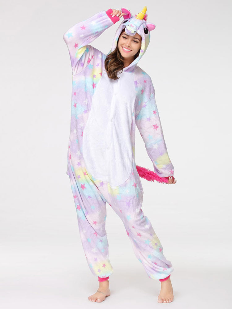 9dee4a8f4504 Dreaming Star Unicorn Kigurumi Pajamas Unicornio Onesie For Adults ...