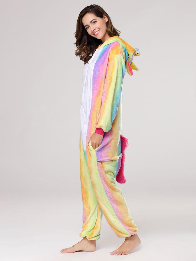 Rainbow Unicorn Kigurumi Pajamas Onesie For Adults