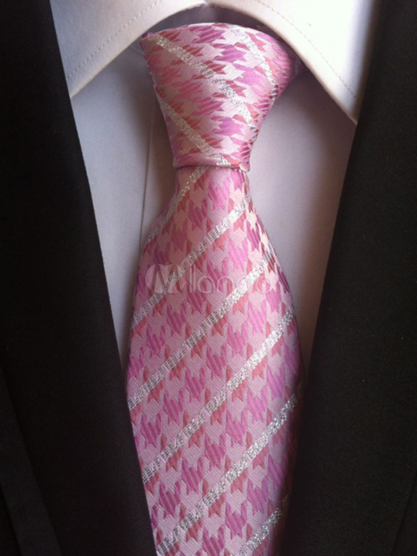 Pink Chic Ties Jacquard Men's Dress Tie