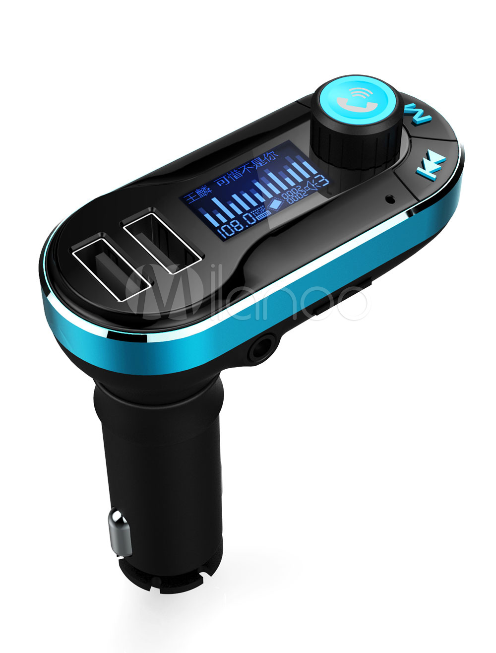 Buy USB Car Charger Qualcomm Quick Charge 2.0 Dual USB Ports Music Control Car Electronics Kit for $16.99 in Milanoo store