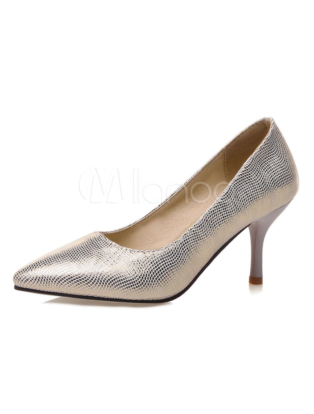 Scarpe con tacco medio donna pU tacco basso e fino 7cm a punta decolletè  fuori ... 235cd008910