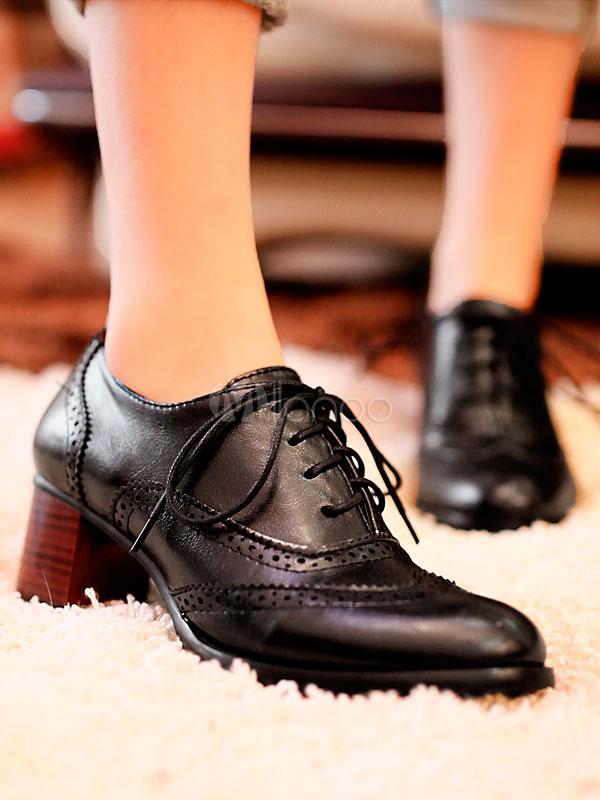 Wear Liso Color Mujer Street Estilo Gordo Zapatos Cinta Oxford Redonda Con Tacón Primavera Para De Puntera 5Aj3qL4R