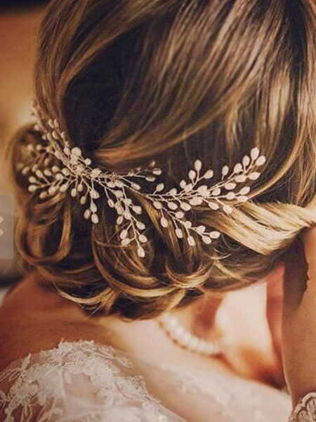 Wedding Hair Accessories Ivory Pearls Alloy Bridal Headpieces