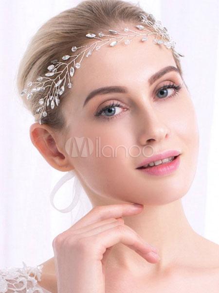 Buy Gold Wedding Headband Headpieces Rhinestones Alloy Bridal Headdress for $9.89 in Milanoo store