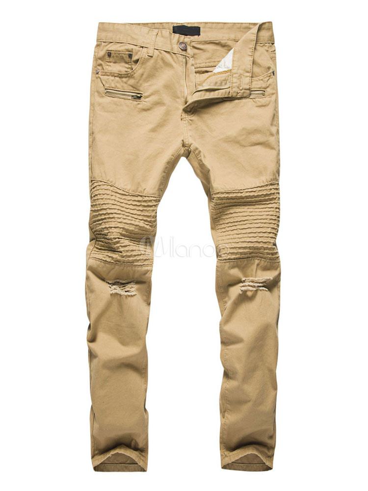 Estrecho 2019 No Fruncido Pantalones Hombre Casual Khaki 1 Largos FUxFwHq7