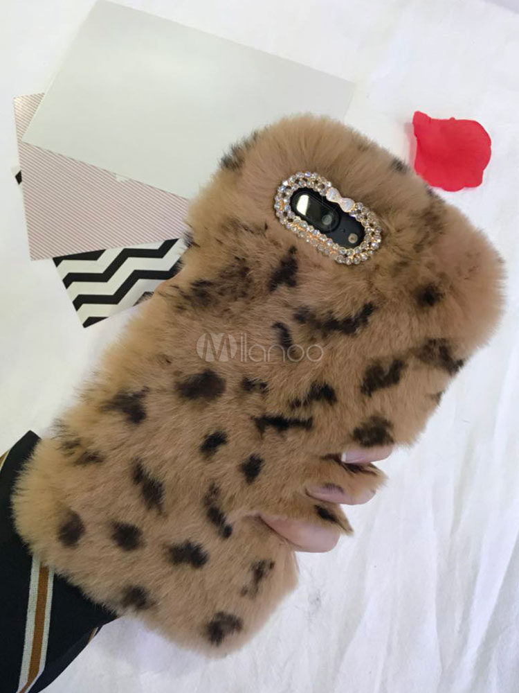 Buy Faux Fur Phone Case Sequined Furry Stylish Back Cover For Iphone 6 Iphone 7 Iphone 8 And Samsung Phones for $11.04 in Milanoo store
