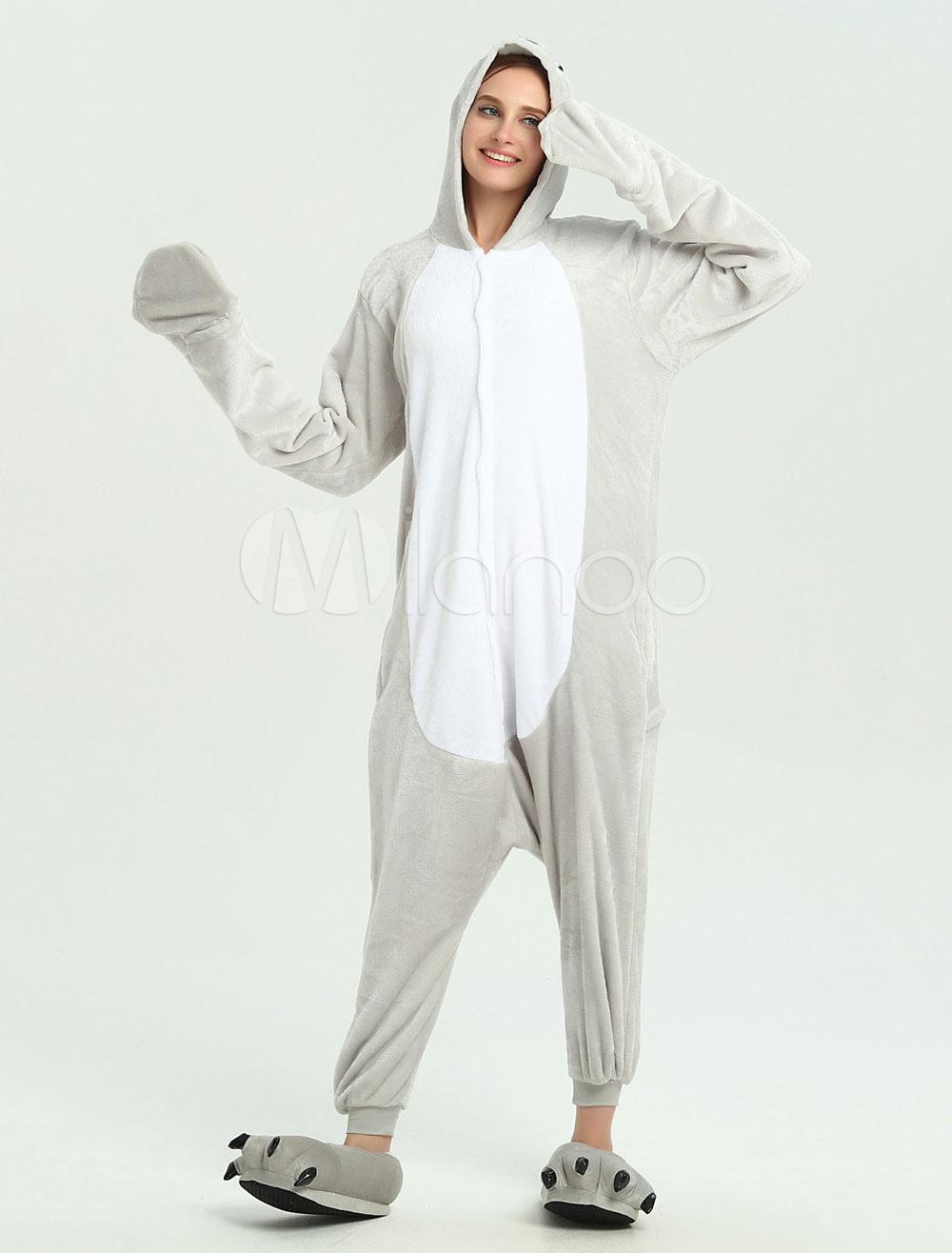 Buy Sea Lion Kigurumi Onesie Grey Jumpsuit For Adults Halloween Kigurumi for $18.39 in Milanoo store