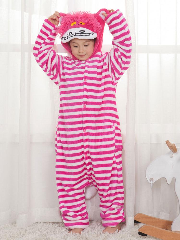 59665b8eee89c Onesie Cheshire Cat Kids Unisex Rose Flannel Jumpsuit Pajamas Halloween  Costume-No.1 ...