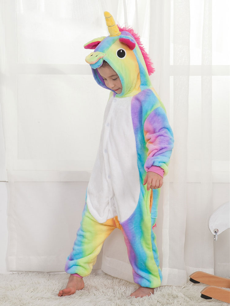 364e5bb3a88 Arco Iris Pijama Unicornio 2019 Kigurumi Mono Unicornio para Niños-No.1 ...