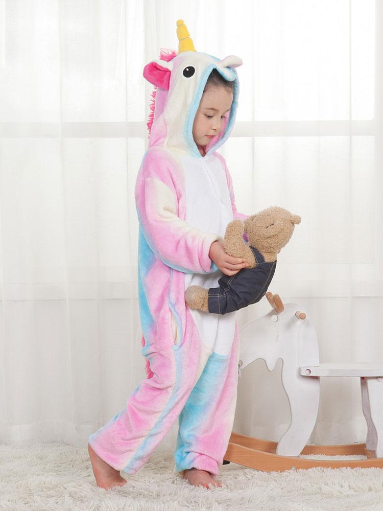 Einhorn Kostum Kinder Regenbogen Einhorn Tierkostume Pyjamas Onesie