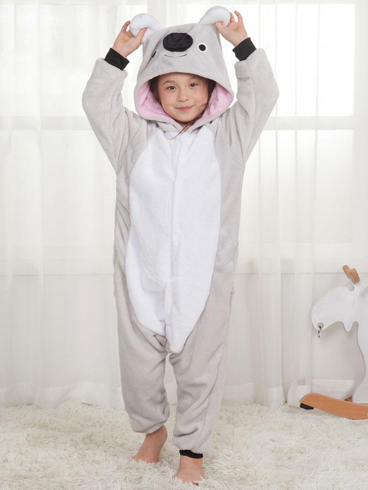 Buy Onesie Kigurumi Pajamas Koala Kids Unisex Grey Jumpsuit Halloween Kigurumi for $15.99 in Milanoo store