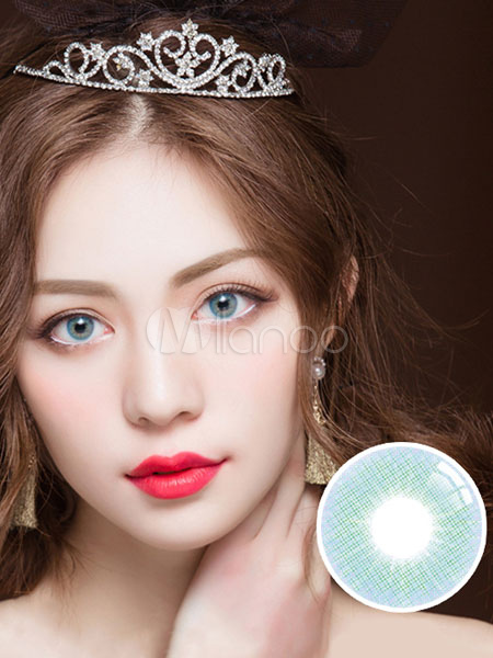 Blue Contact Lenses Small Size Bicolor Balafilcon Yearly Colored Contacts Cheap clothes, free shipping worldwide
