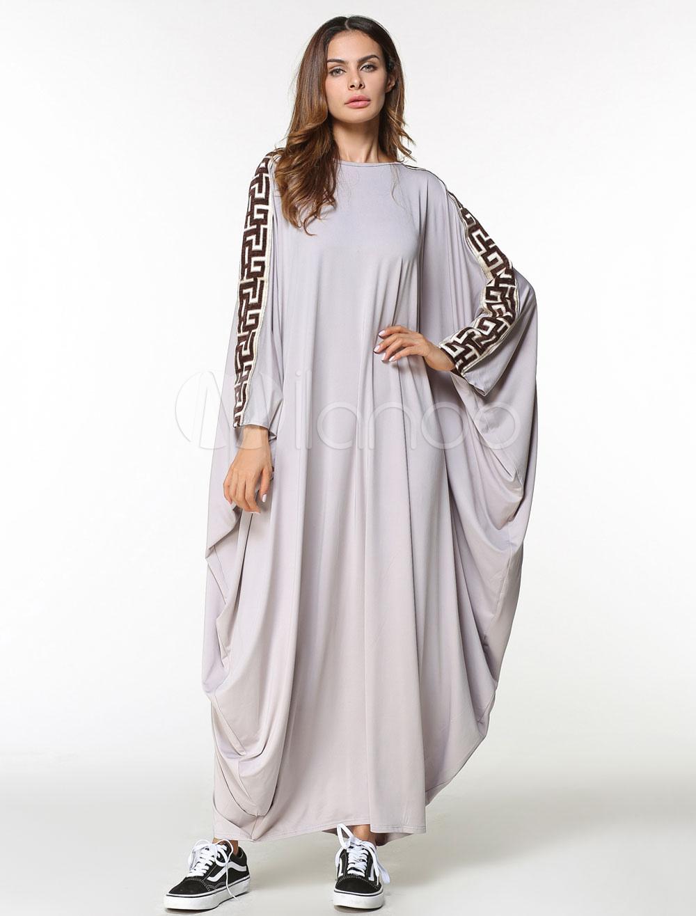 8008157d ... Oversized Kaftan Dress Women Long Sleeve Muslim Jalabiya Dress-No.5. 1.  30%OFF. Color:Apricot. AddThis Sharing Buttons