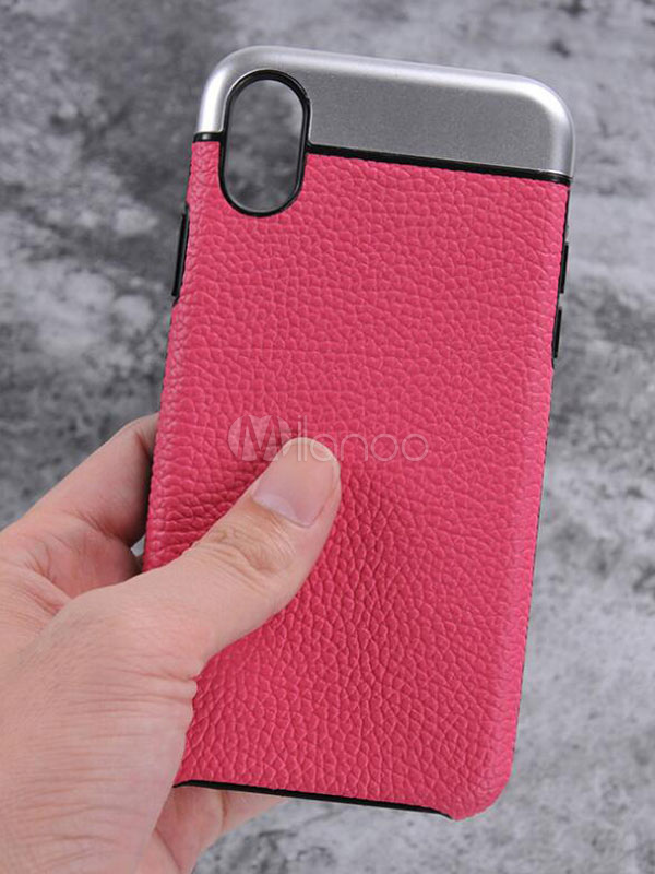 Buy Leather Phone Case Color Block Anti Slip Protective Phone Cover For IPhone X IPhone 8 IPhone 7 And IPhone 7s for $8.09 in Milanoo store