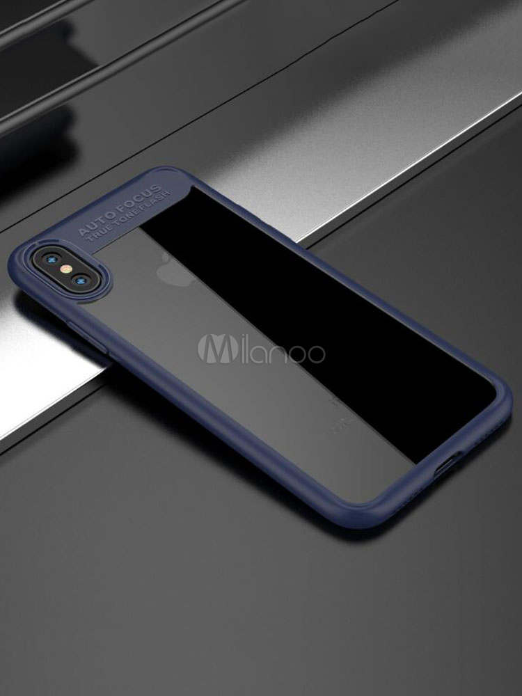 8b4fdebd960 IPhone X parachoques transparente tubería romper a prueba de arañazos caja  protectora del teléfono contra arañazos ...