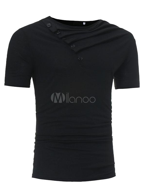 Short Sleeve T Shirt Men T Shirt Round Neck Long Sleeve Regular Fit Cotton Top