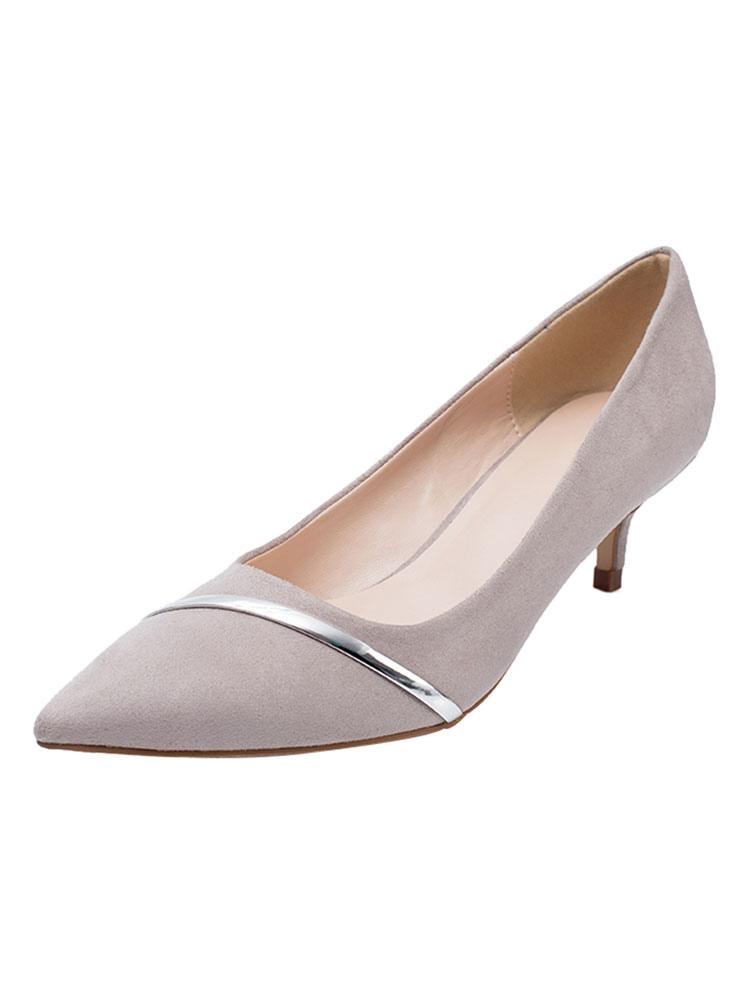 Felpa Moderno Zapatos Medio Estilo De Tacón Stiletto 1fAqwUf